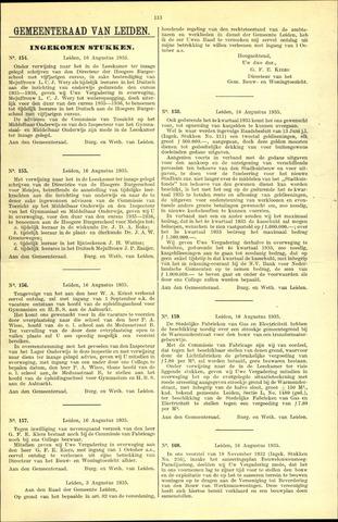 Handelingen van de Raad 1935-08-16