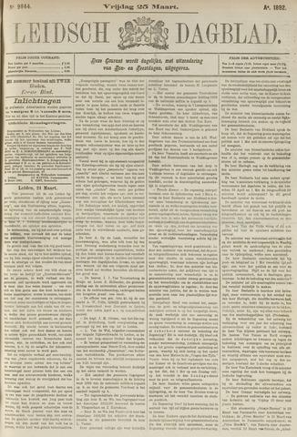 Leidsch Dagblad 1892-03-25