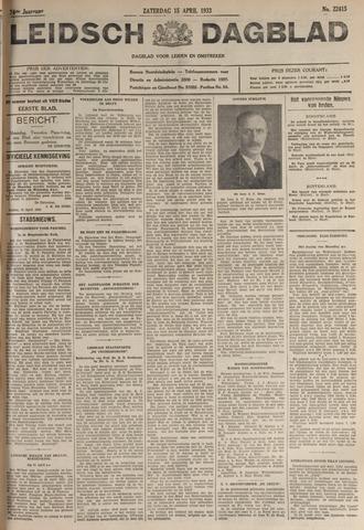 Leidsch Dagblad 1933-04-15
