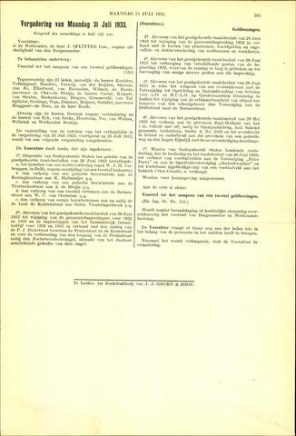 Handelingen van de Raad 1933-07-31