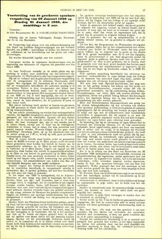 Handelingen van de Raad 1930-01-21