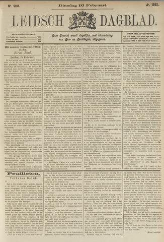 Leidsch Dagblad 1892-02-16