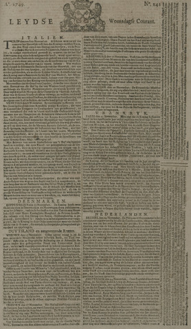 Leydse Courant 1749-11-26