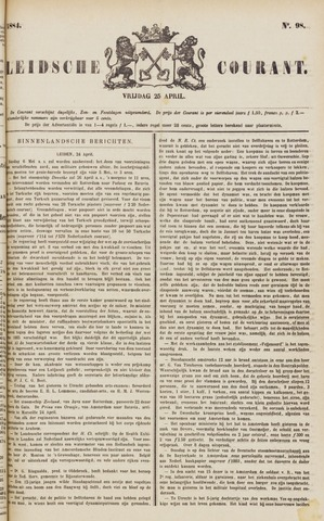 Leydse Courant 1884-04-25