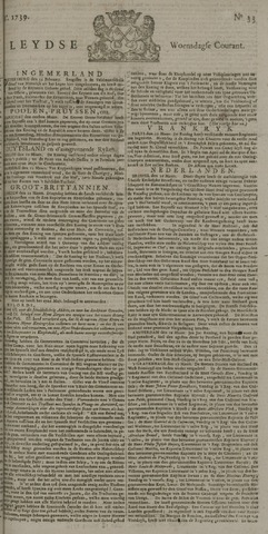 Leydse Courant 1739-03-18