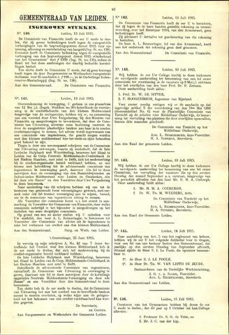 Handelingen van de Raad 1915-07-13