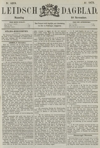Leidsch Dagblad 1873-11-10