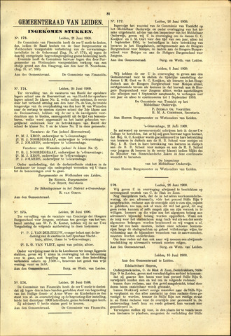 Handelingen van de Raad 1909-06-21