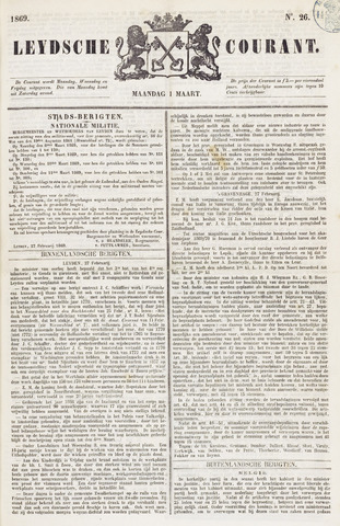 Leydse Courant 1869-03-01