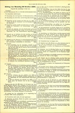Handelingen van de Raad 1928-10-29