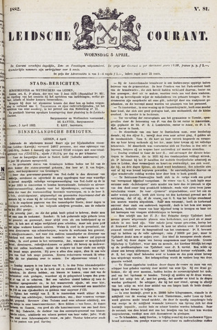 Leydse Courant 1882-04-05