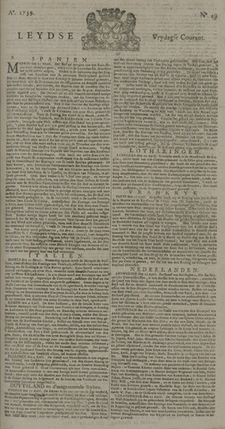 Leydse Courant 1739-04-24