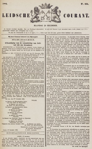 Leydse Courant 1884-12-29