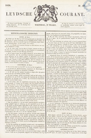 Leydse Courant 1850-03-27