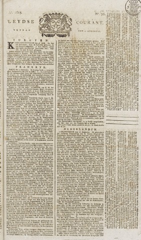 Leydse Courant 1815-08-11