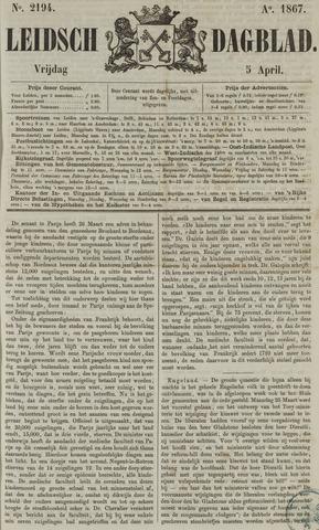 Leidsch Dagblad 1867-04-05