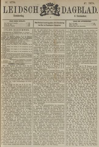 Leidsch Dagblad 1878-12-05
