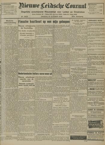 Nieuwe Leidsche Courant 1939-10-10