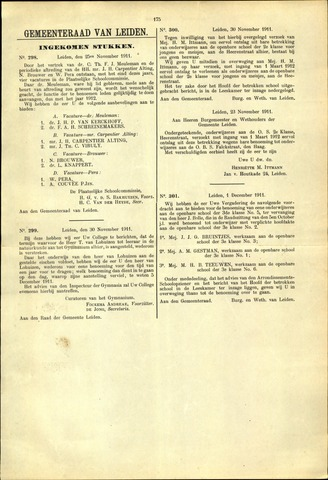 Handelingen van de Raad 1911-11-25