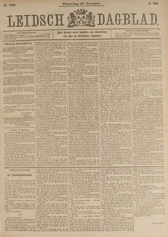 Leidsch Dagblad 1902-01-27