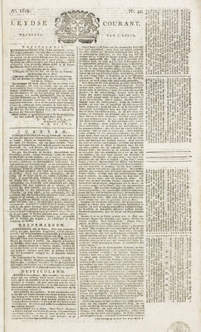 Leydse Courant 1819-04-07