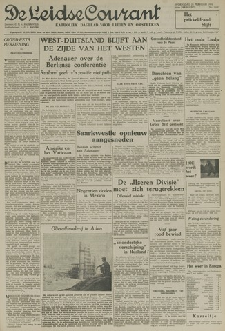 Leidse Courant 1954-02-24