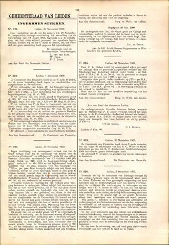 Handelingen van de Raad 1909-11-30