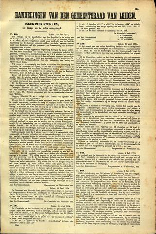 Handelingen van de Raad 1874-06-22