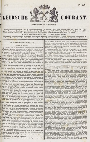Leydse Courant 1871-11-30