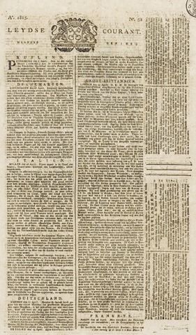 Leydse Courant 1815-05-01