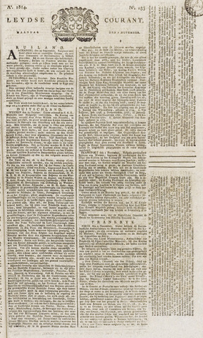 Leydse Courant 1814-11-07