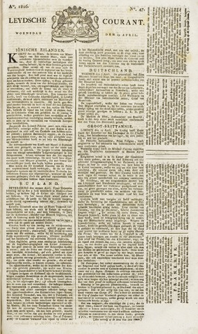 Leydse Courant 1826-04-19