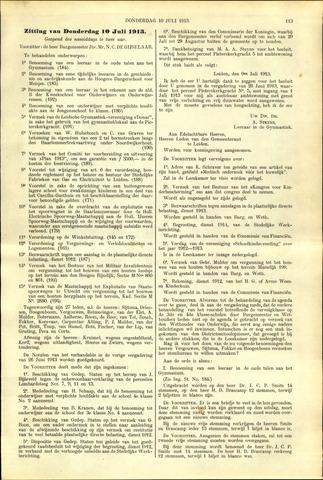 Handelingen van de Raad 1913-07-10