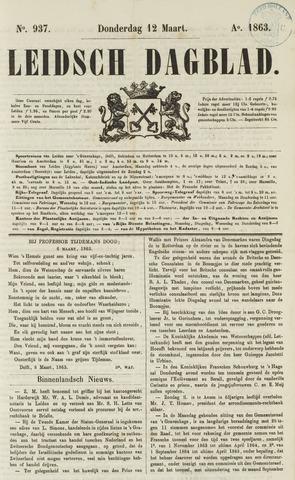 Leidsch Dagblad 1863-03-12