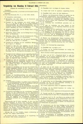 Handelingen van de Raad 1936-02-10