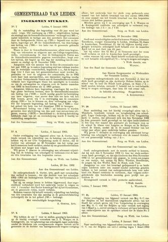 Handelingen van de Raad 1903-01-06