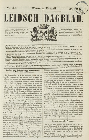 Leidsch Dagblad 1863-04-15