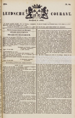 Leydse Courant 1884-04-21