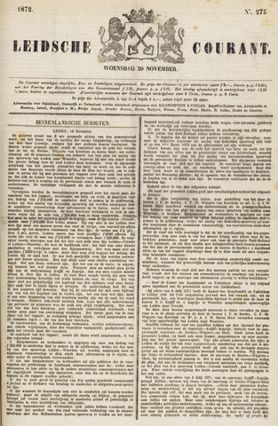 Leydse Courant 1872-11-20