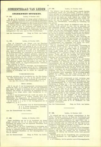 Handelingen van de Raad 1937-10-09
