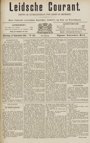 Leydse Courant 1885-09-12