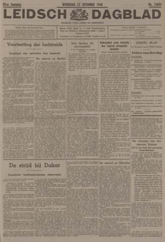 Leidsch Dagblad 1940-09-25