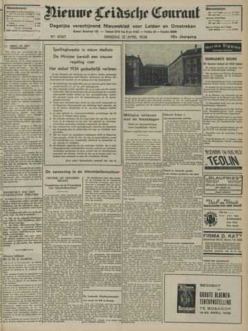 Nieuwe Leidsche Courant 1938-04-12