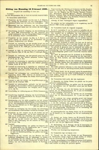 Handelingen van de Raad 1928-02-13