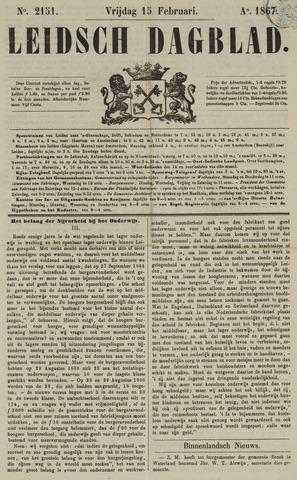 Leidsch Dagblad 1867-02-15