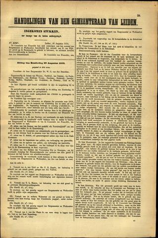 Handelingen van de Raad 1872-08-31
