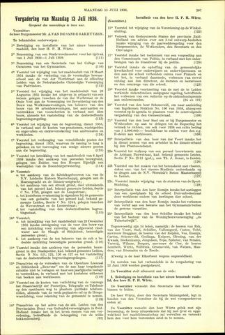 Handelingen van de Raad 1936-07-13