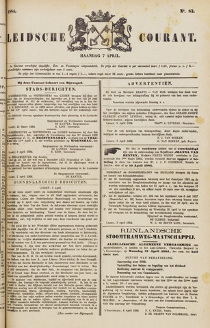 Leydse Courant 1884-04-07