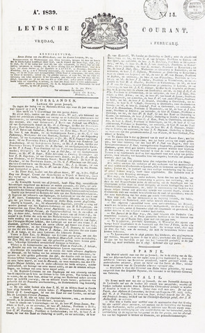 Leydse Courant 1839-02-01