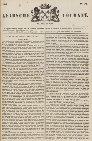 Leydse Courant 1884-07-25